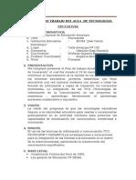 Plan Anual de Trabajo Del Aula de Tecnologías 2014