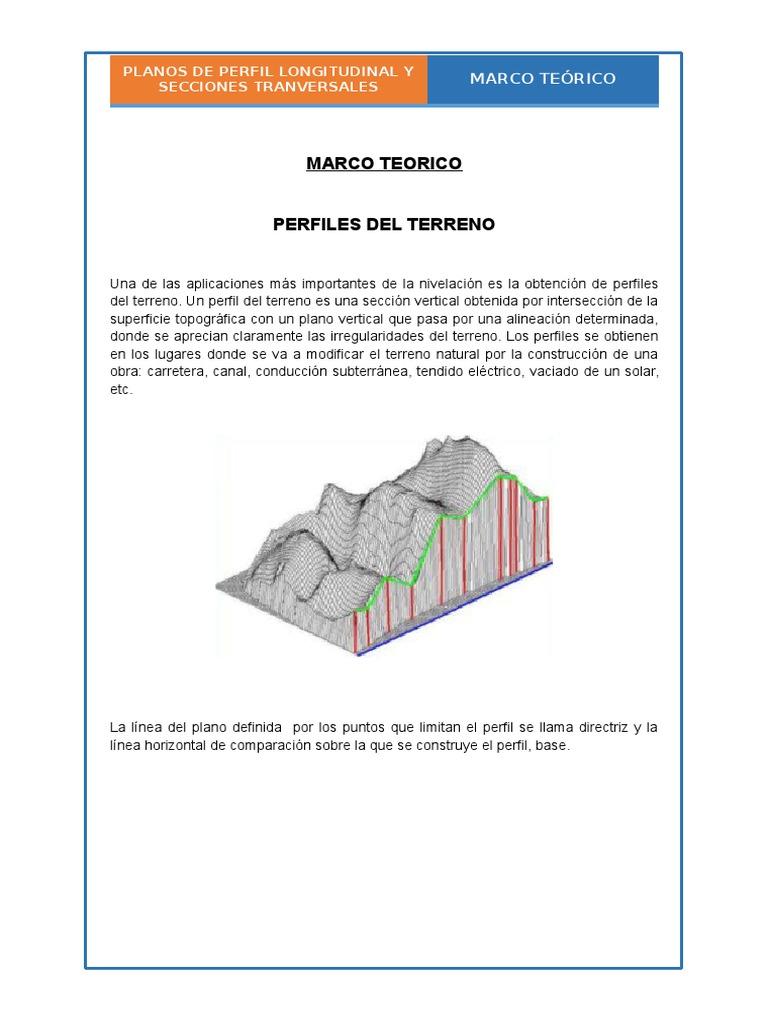 Dibujo de Perfil Longitudinal y Secciones Transversales