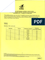 CSSA 2015 mathematics Trial Solutions