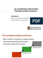 The challenge of predicting metal transfer through the soil-plant-animal continuum