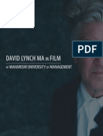 David Lynch MA in Film
