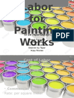 Construction Estimate Visuals Labor Cost for Painting Works