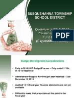 Susquehanna Twp. School District 2016-17 Preliminary Expenditure Budget