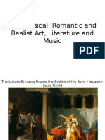 neoclassical romanticism and realism art literature