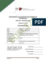 BUSL320 Mid Sem Test- Session 1-Monday-2015