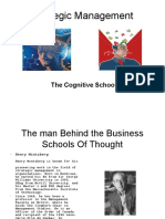 The cognitive school in strategic Management