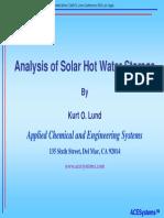 Analysis of Solar Hot Water Storage