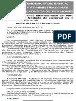 2015 11 16 Ymdorauckpkbayyehita Autorizan al Banco Internacional del Perú - Interbank el traslado de sucursal en la República de Panamá