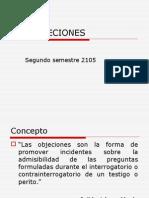 Las Objeciones en El Proceso Penal Chileno