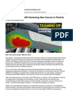 CD-Adapco - CD-Adapco and PSRI Chartering New Course in Particle Flow Simulations - 2015-09-08