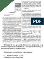 2015 11 16 Dbtenteossxysmitvhjq Modifican la R.M. N° 262-2015- PCM mediante la cual se autorizó viaje de la Ministra de Relaciones Exteriores a Filipinas