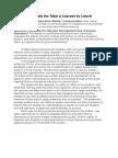 ltm 640 rationale edit take a learner to lunch rationale edit for portfolio