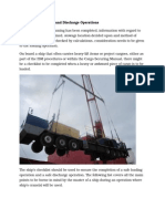 HEAVY LIFT Loading and Discharge Operations