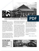 Pesach Newsletter