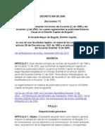 Decreto 959 de 2000