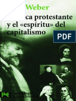 """La étipa protestante y el """"espíritu"""" del capitalismo"""