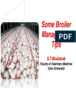 Management tips for Broiler Farms