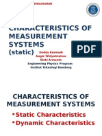 Static Characteristics in Measurement System