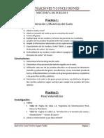 Investigaciones y Conclusiones- Mecánica de Suelos I