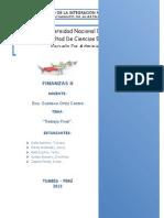 Trabajo Final de Finanzas II (Estructura de Capital de 2 Hoteles)