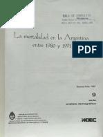 INDEC - La Mortalidad en La Argentina 1997