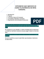 Empresas Extranjeras Que Operaron en México Durante La Presidencia de Ávila Camacho 1