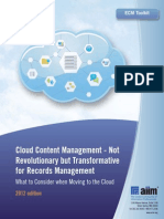 AIIM Cloud Content Management 2012 Toolkit