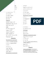 Formulario PSU fisica 2015