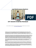 Next Level Performance Systems Sample 4 week Off season Football Program
