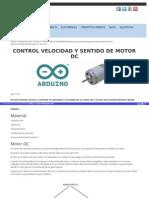 Control Velocidad y Sentido de Motor Dc