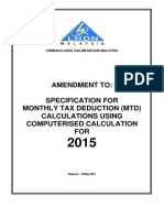 MONTHLY TAX DEDUCTION