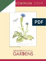 Denver Botanic Gardens 2009 Index Seminum