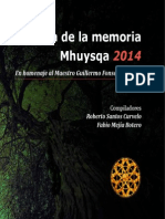 Cátedra de La Memoria Mhuysqa 2014