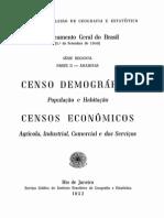 Censo Demografico Amazonas 1952