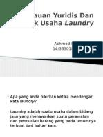 Tinjauan Yuridis Dan Dampak Usaha Laundry