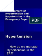 Management of Hypertension-Hypotension in the ER