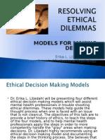 Resolving Ethical Dilemmas Liljedahl