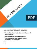 Kuliah 2 Metode Ilmiah Dalam Biologi