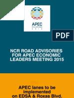 NCR Road Advisory