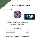 Analisis Eksternal Perusahaan Asuransi Bumiputra