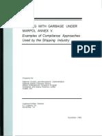 Dealing With Garbage Under MARPOL Annex V