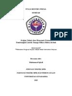 Resume Jurnal 5 Kajian Teknis Dan Potensi Pembangunan Pltmh Di Bali