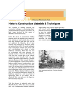 Historic Construction Materials and Techniques