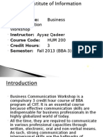 Business Communication and Report writing Skills