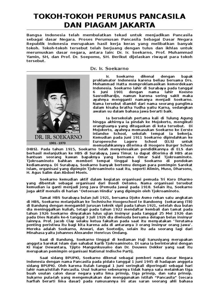 Tokoh Tokoh Perumusan Pancasila Dan Piagam Jakarta
