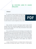PIR Based Energy Conservation System for Corporate Computers and Lighting System_Abstract