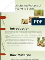 Manufacturing Process of Sugarcane to Sugar