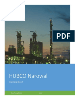 HUBCO Narowal Power Plant internship report