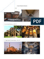 A List of Historical Churches