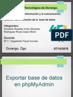 Exportacion de bd en phpmydmin